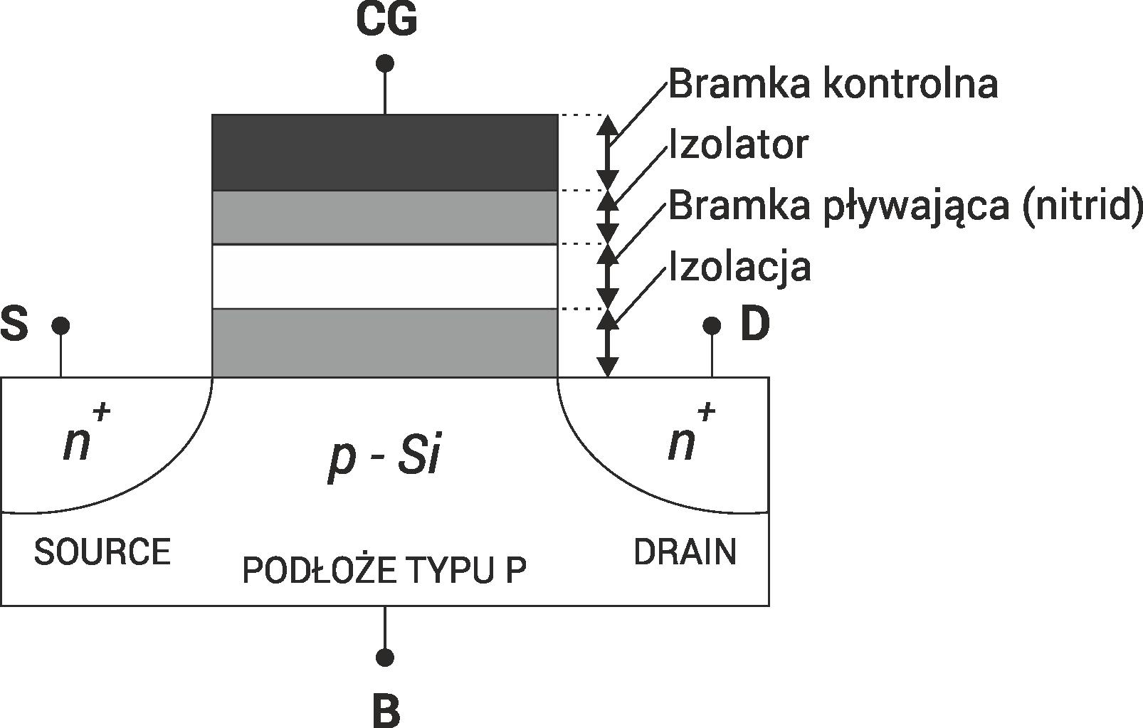 Budowa komórki pamięci 2D
