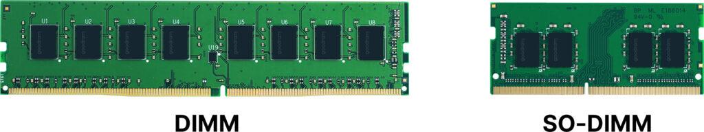 dimm vs so-dimm; goodram; dram; memory modules