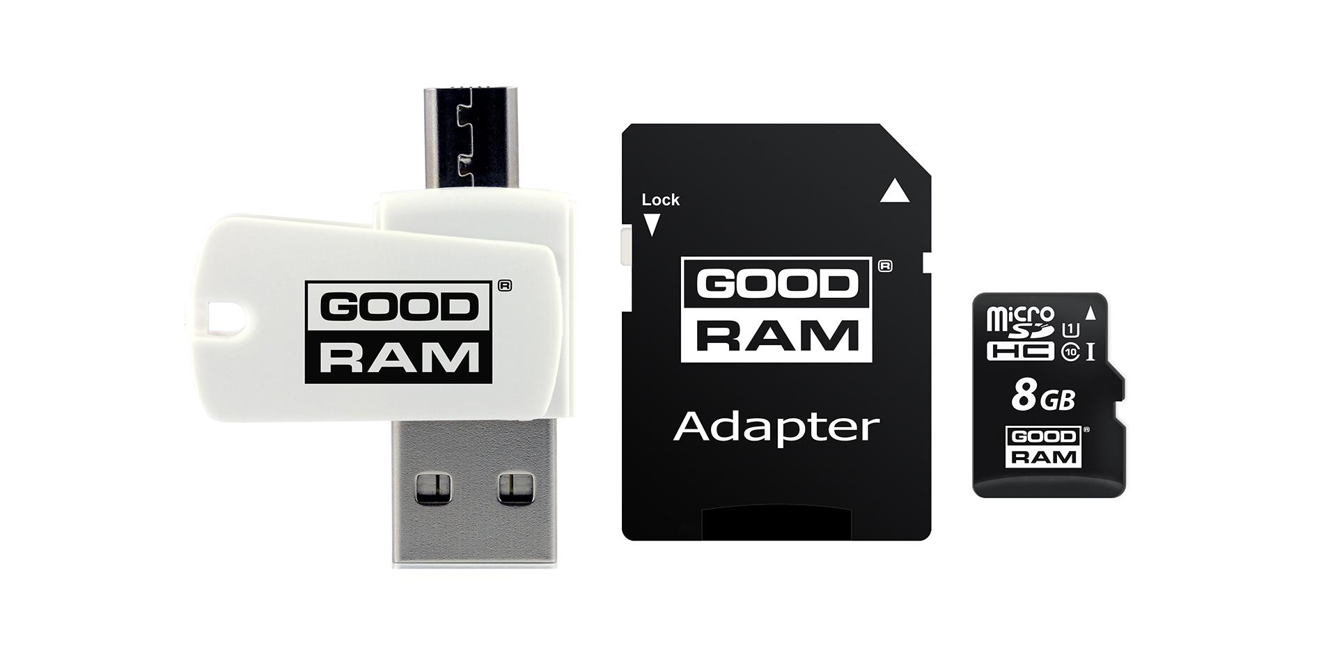 czytnik z USB oraz kartą micro do smartfonów