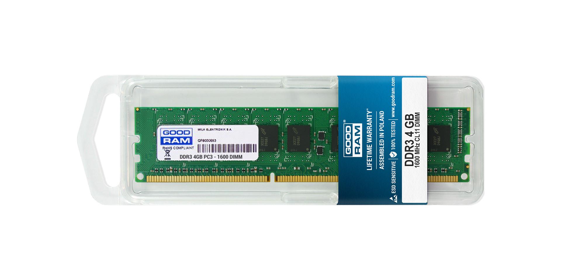 DRAM DDR3 DIMM w blistrze