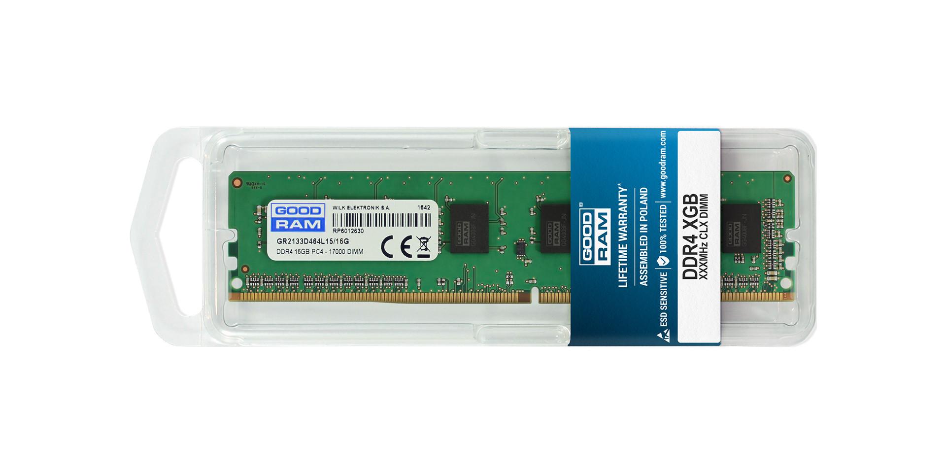DRAM DDR4 dimm w blistrze