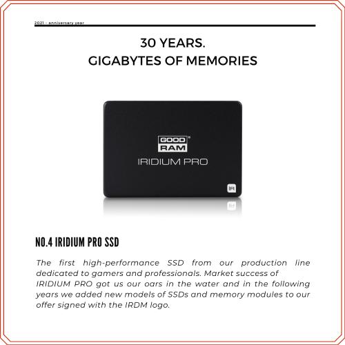 First SSD of Goodram - Iridium Pro