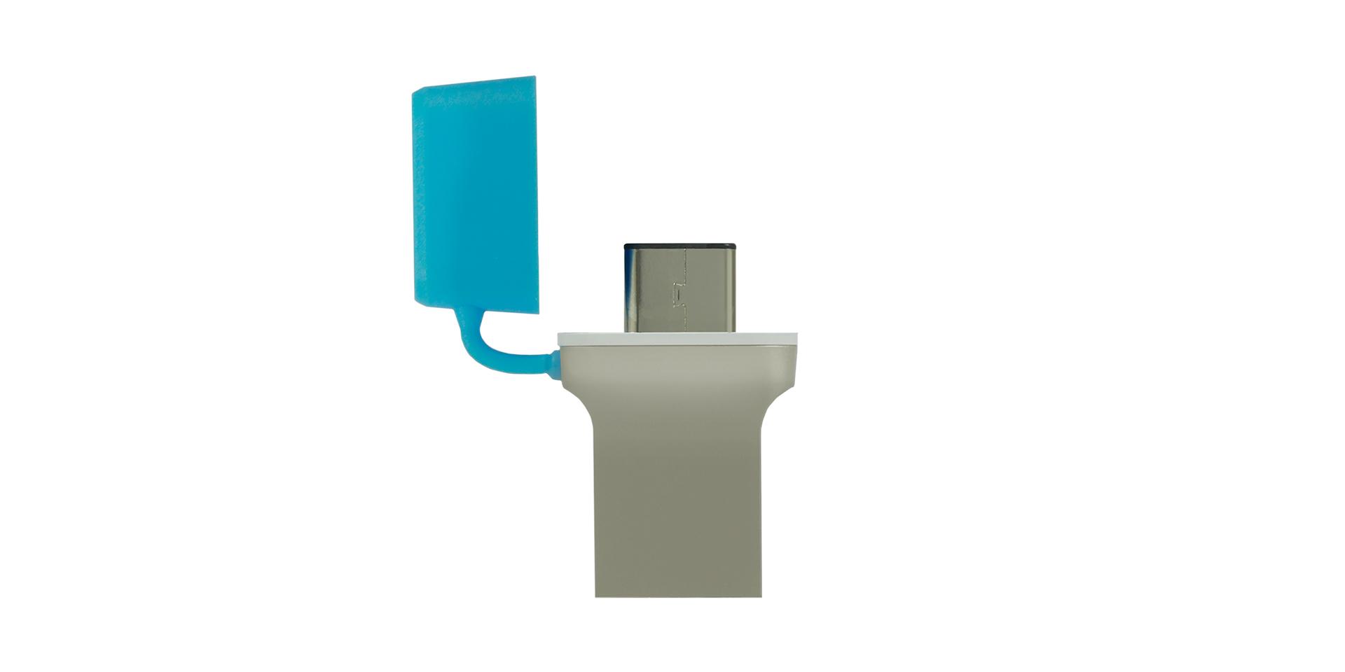 Blue cap USB